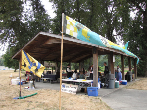 The Known Wide World of Sports event became a reality! Here is the gate table and picnic shelter at the event.